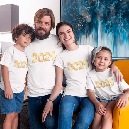 Kit Camiseta Família Ano Novo - 4 Peças - CA1105