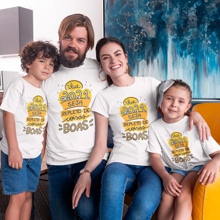 Kit Camiseta Família Ano Novo - 4 Peças - CA1107