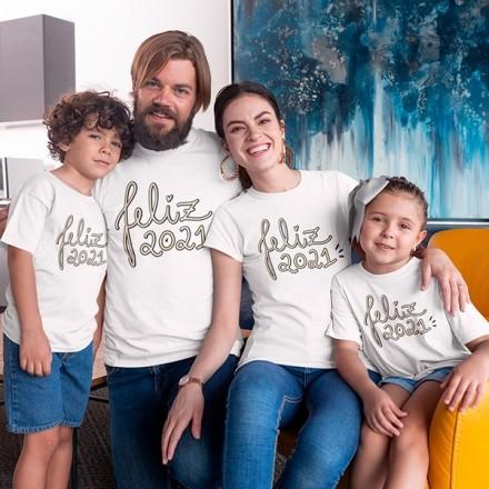 Kit Camiseta Família Ano Novo - 4 Peças - CA1109