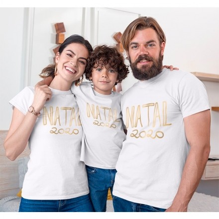 Kit Camiseta Família Natal - 3 peças - CA1001