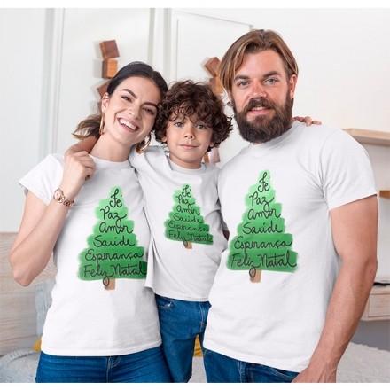 Kit Camiseta Família Natal - 3 peças - CA1003