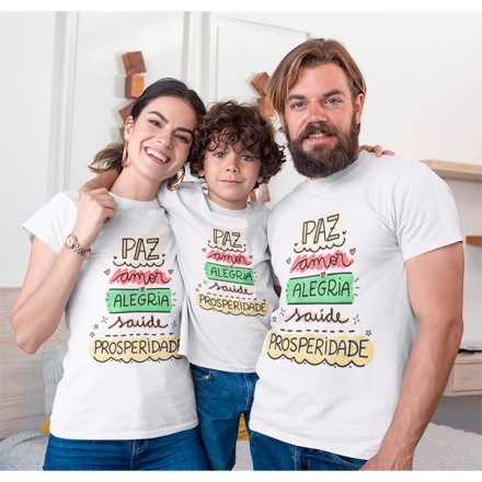 Kit Camiseta Família Natal - 3 peças - CA1005