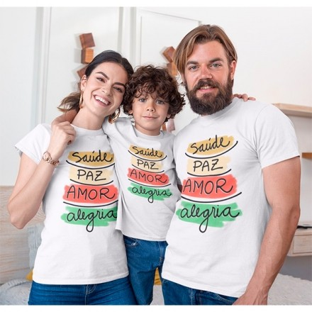 Kit Camiseta Família Natal - 3 peças - CA1006