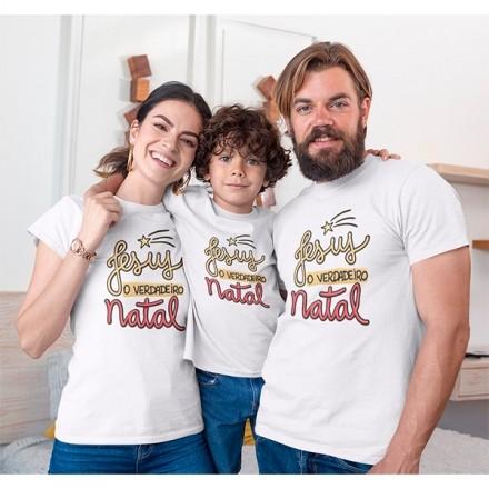 Kit Camiseta Família Natal - 3 peças - CA1007
