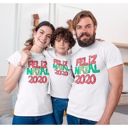 Kit Camiseta Família Natal - 3 peças - CA1010