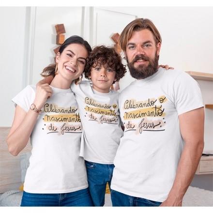 Kit Camiseta Família Natal - 3 peças - CA1013