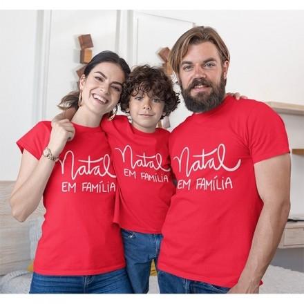 Kit Camiseta Família Natal - 3 peças - CA1031