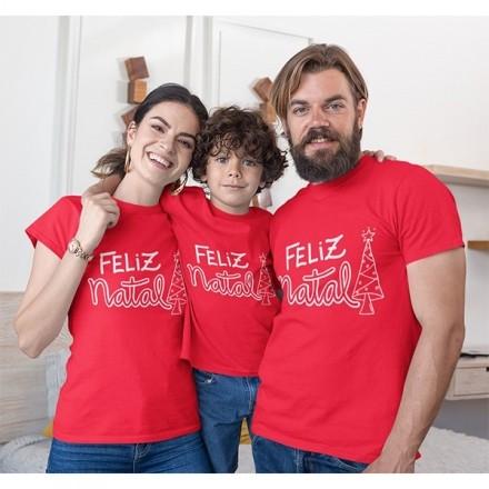 Kit Camiseta Família Natal - 3 peças - CA1032