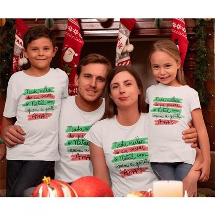 Kit Camiseta Família Natal - 4 peças - CA1015