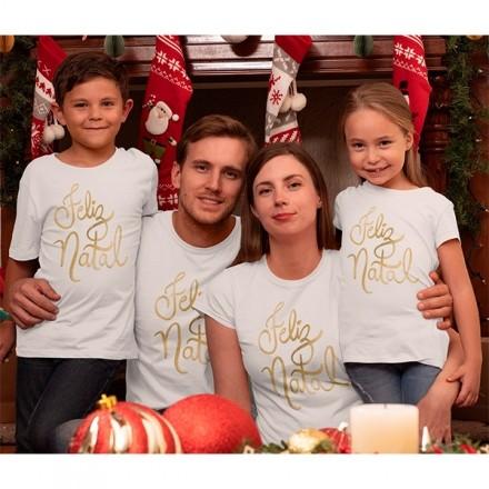 Kit Camiseta Família Natal - 4 peças - CA1016
