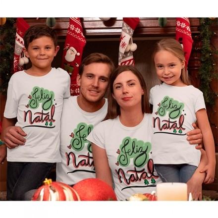Kit Camiseta Família Natal - 4 peças - CA1017