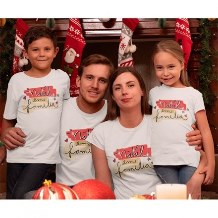 Kit Camiseta Família Natal - 4 peças - CA1018
