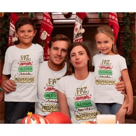 Kit Camiseta Família Natal - 4 peças - CA1019