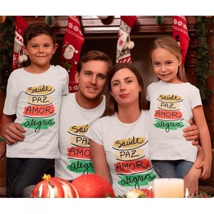 Kit Camiseta Família Natal - 4 peças - CA1022