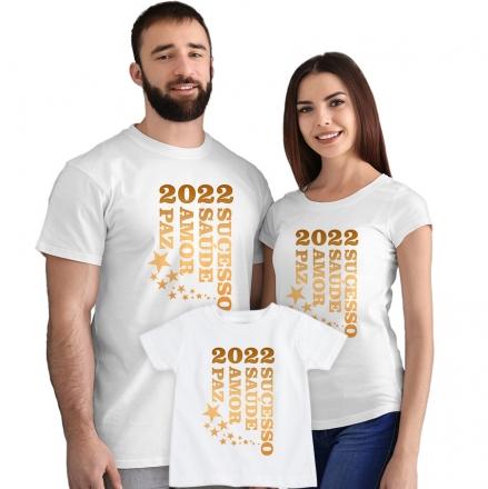 Kit Camisetas 2022 Sucesso Saúde Amor e Paz CA0891