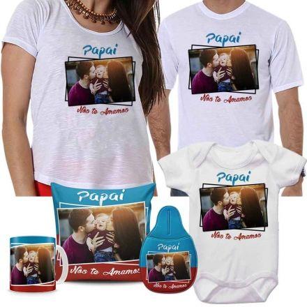 Kit Camisetas, Body, Almofada, Caneca e Lixeira para Carro Personalizados
