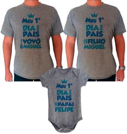 Datas Especiais Dia Dos Pais Kit Camiseta E Body Meu Primeiro Dia