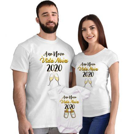 Kit Camisetas e Body Ano Novo Vida Nova CA0878