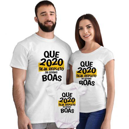 Kit Camisetas e Body Que 2020 Seja Repleto de Coisas Boas CA0867