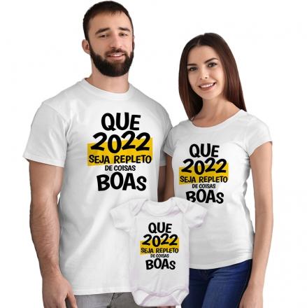 Kit Camisetas e Body Que 2022 Seja Repleto de Coisas Boas CA0867