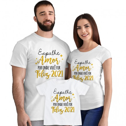 Kit Camisetas Espalhe Amor por onde Você For CA0887