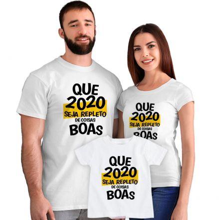 Kit Camisetas Que 2020 Seja Repleto de Coisas Boas CA0884
