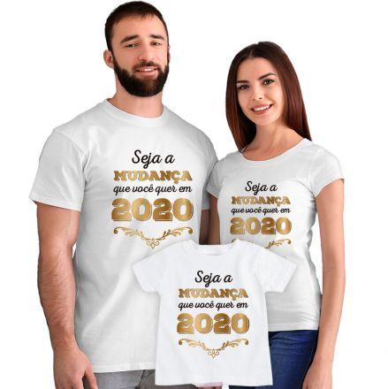 Kit Camisetas Seja a Mudança que Você quer em 2020 CA0882