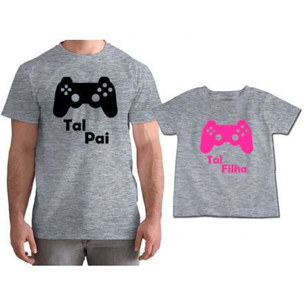 Kit Camisetas Tal Pai Tal Filha VÍdeo Game PS4 CA0779