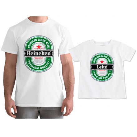 Kit Camisetas Tal Pai Tal Filho Cerveja Heineken CA0806