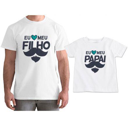 Kit Camisetas Tal Pai Tal Filho Eu Amo Meu Papai CA0808