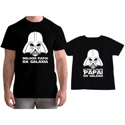 Kit Camisetas Tal Pai Tal Filho Star Wars Darth Wader Melhor Papai da Galáxia CA0816