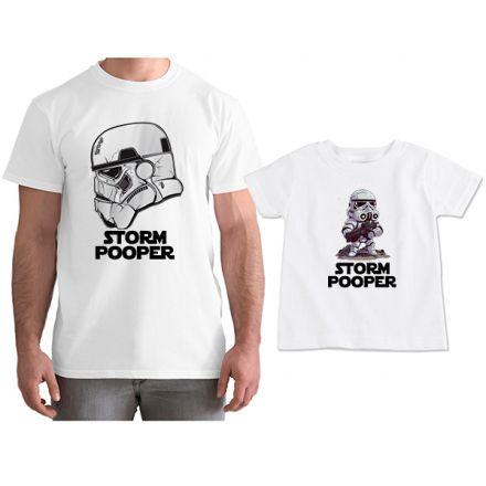 Kit Camisetas Tal Pai Tal Filho Star Wars Storm Pooper CA0817