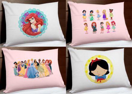 Kit de Fronhas Personagens Infantis Menina Princesas Disney FR0188