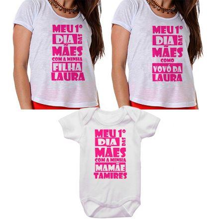 Kit Meu Primeiro Dia das Mães Vovó Mamãe e Bebê CA0668