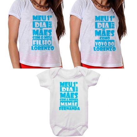 Kit Meu Primeiro Dia das Mães Vovó Mamãe e Bebê CA0669
