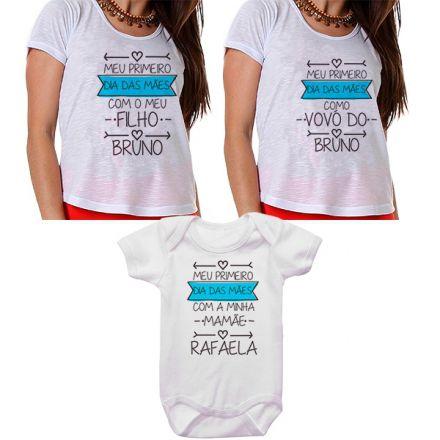 Kit Meu Primeiro Dia das Mães Vovó Mamãe e Bebê CA0672