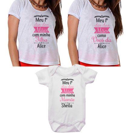 Kit Meu Primeiro Dia das Mães Vovó Mamãe e Bebê CA0675