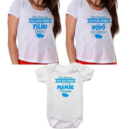 Kit Meu Primeiro Dia das Mães Vovó Mamãe e Bebê CA0676