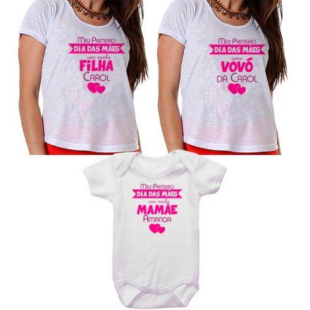 Kit Meu Primeiro Dia das Mães Vovó Mamãe e Bebê CA0677