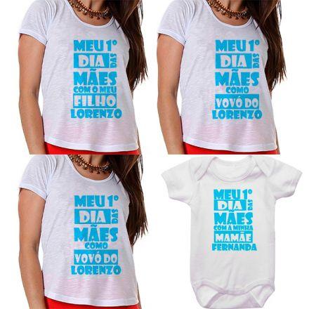 Kit Meu Primeiro Dia das Mães Vovós Mamãe e Bebê CA0679