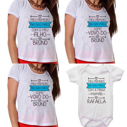 Kit Meu Primeiro Dia das Mães Vovós Mamãe e Bebê CA0682