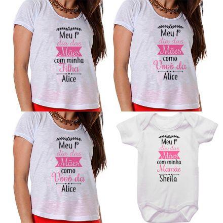 Kit Meu Primeiro Dia das Mães Vovós Mamãe e Bebê CA0685