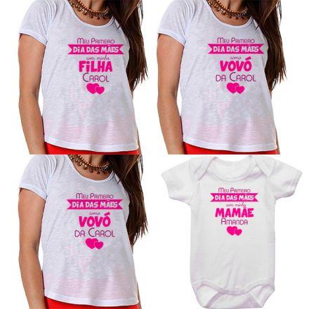 Kit Meu Primeiro Dia das Mães Vovós Mamãe e Bebê CA0687