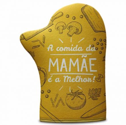 Luva de Cozinha A Comida da Mamãe é a Melhor