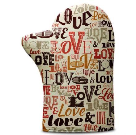 Luva de Cozinha Letras Love
