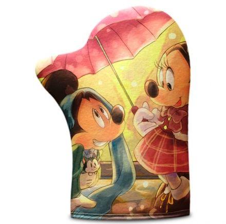 Luva de Cozinha Minnie e Mickey Apaixonados