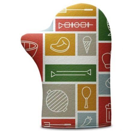Luva de Cozinha Mosaico