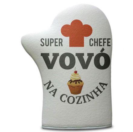 Luva de Cozinha Super Chefe Vovó Na Cozinha