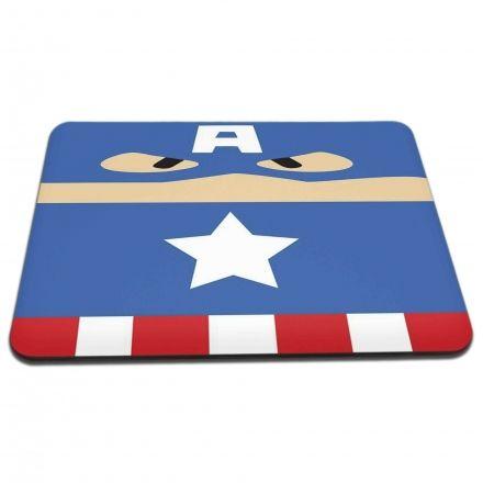 Mouse Pad Capitão América - Os Vingadores