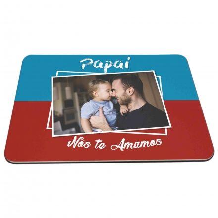 Mouse Pad Personalizado Papai Nós Te Amamos